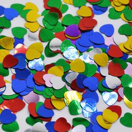 Confetti baby online-All'ingrosso-500pcs / bag a forma di cuore di carta della Tabella dei coriandoli decorazione di cerimonia Confetti Wedding feste Baby Shower Scrapbooking Crafts