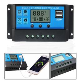 cargador lipo b6 Rebajas 10A / 20A / 30A 12V / 24V LCD controlador de carga solar con temporizador de regulador automático para panel solar Protección de sobrecarga de batería Baterías de plomo