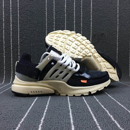 Wholesale Black Flat Snow Boots - King Air 2018 Black White Presto AAA+ Quality Breathable Upper Training Sneakers Indoor & Outdoor Running Shoes