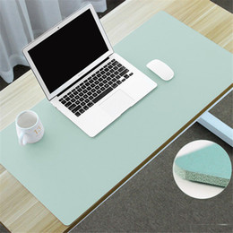 souris clavier macbook Promotion 600X300mm Grand Bureau Tapis De Souris Bureau Accueil Ordinateur Portable Clavier Souris Tapis Souple En Cuir PU Tapis De Table pour Macbook Air Pro Dell