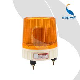 Luz estroboscópica de advertencia 24 online-IP54 a prueba de agua 12/24/110/220/380 V AC / DC tornillo de seguridad de tráfico fijo advertencia amarilla led ámbar luces de barrido de flash estroboscópicas