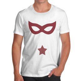 Buchhemd online-Herren Comic Book Villain Mask Retro T-Shirt
