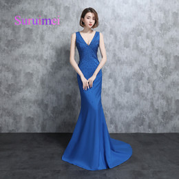 Wholesale Red Carpet Sexy - Free Shipping Custom Made Evening Dresses Real Samples Vestidsode Noiva Prom Gowns Elegant Party Dress with Pearls