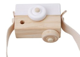 Wholesale Articles For Children - Lovely Cute Wooden Cameras Toys For Baby Kids Room Decor Furnishing Articles Child Birthday Gifts Nordic European Style 5 Colors 20pcs whole