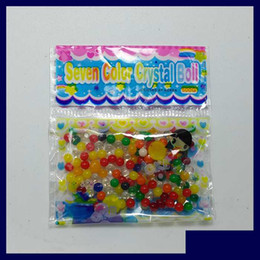 Wholesale Magic Soil Crystal Wholesale - 2.6-3g Bag 2.5-3mm Dry Hard Crystal Soil SeaBaby Water Foam Beads Magic Jelly Ball Soilless Growing Substrates Gifts for Kids Friends