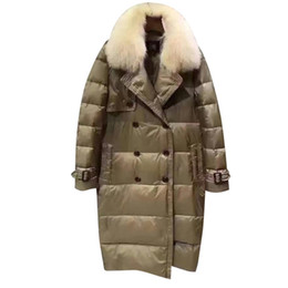 Wholesale High End Down Coats - 2017 Women's Winter Coat Han Version Style High-end Temperament Loose Fashion With Long Knee Cap Long Down Cotton Jacket