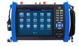 Caméra ptz analogique en Ligne-7 pouces IP caméra testeur CCTV testeur moniteur ip caméras analogiques test de câble scan réviser onvif PTZ 12V2A sortie POE