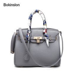 ladies silk christmas scarves Promo Codes - Bokinslon Bags For Women PU Leather Litchi Profile Female Crossbody Bag Fashion Solid Color Ladies Handbags Bags No Silk Scarf