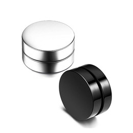 be8f58413 Wholesale (TE-0002) Magnet Ear Stud ( 1 pieces ) Non Piercing Clip Stud  Earrings Black Sliver for boy girl