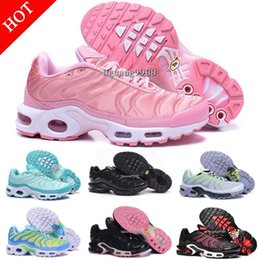 Wholesale Womens Pink Tennis Shoes - 2018 Cheap Brand New Womens Tn Running Shoes Black White Women Sports Shoes Pink Blue Woman Best Athletic Trainers Sneakers Tennis Shoes