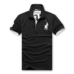 Полут-майки для мужчин онлайн-Домашняя мужская футболка с короткими рукавами и отворотом деловая повседневная рубашка поло с простой и модной хлопчатобумажной рубашкой с половиной рукава мужской одежды