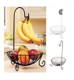 Panier de fruits en métal de cuisine de nouveauté avec support de banane détachable Supports de stockage de fruits Racks plaque de fruits de fer casier à collation de style européen ? partir de fabricateur