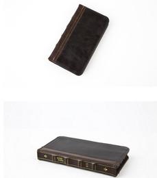 Étui en cuir pour iphone en Ligne-Rétro Ancien Vintage Vieux Flip Book Style En Cuir Étui Portefeuille Pour Iphone XR XS MAX 6.1 6.5 X 6 5S SE Galaxy Note 9 S9 Plus Sachet Porte