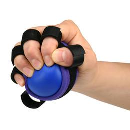 equipo de entrenamiento de agarre Rebajas Dedo de la mano Agarre Entrenamiento de poder muscular Ejercicio de rehabilitación de la pelota de goma Agarrar la pelota Equipo de ejercicios