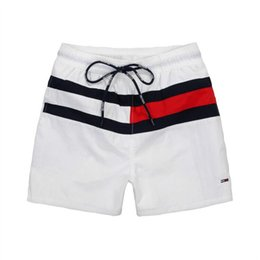 Wholesale tommy fashion - HOT SALE 2018 New brand Shorts High Waisted Men Summer Fashion Tommy Board shorts running shorts homme M-XXL Free shipping