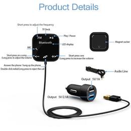 Araba MP3 Çalar Bluetooth FM Verici Araç Kiti HandsFree Manyetik Bankası Ile iPhone için Çift USB Araç Şarj FM Modülatör nereden