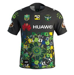 Wholesale Raiders Shirt L - 2018 2019 new CANBERRA RAIDER S INDIGENOUS rugby Jerseys League shirt nrl jersey canberra raider s indigenous shirts s-3xl