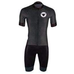 Wholesale Black Cycling Kits - 2018 Short Sleeve Jersey+bib short black sheep Mtb Cycling Set Ropa Ciclismo Road Ride Bike Wear kit Cycling Clothing Sportswear