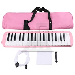 Wholesale Piano Grand - Yibuy Pink Portable 37 Note Piano Keys Melodica with Carrying Bag for Beginners Musical Fans