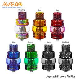 Wholesale Beautiful Bulbs - Original Joyetech ProCore Air Plus Atomizer 5.5ml with Colorful Bulb Tube & Beautiful Cobra Resin Drip Tip E-cig Tank
