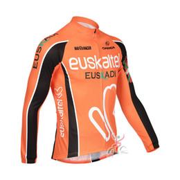 Männer radfahren nur jersey online-2018 neue EUSKALTEL RIESE team Radfahren Langarm Jersey männer Fahrradkleidung Nur langärmelige Tops c1528