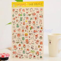 2019 calendario del libro de recuerdos 1 unid coreano lindo divertido de dibujos animados pegatinas diario Scrapbook calendario etiqueta decoración calendario del libro de recuerdos baratos