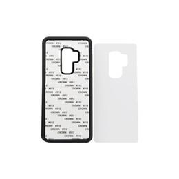 Wholesale Sublimation Sheet Metal - 10pcs Wholesale For Samsung S8 S8 plus TPU rubber 2D sublimation case for Samsung S9 S9 plus case with aluminium metal sheet