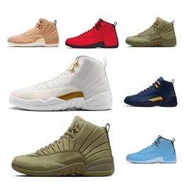 designer fashion 41659 fe822 2019 großhandel college schuhe Mens-Basketball-Schuhe 12 12s  Stier-Bordeaux-Michigan