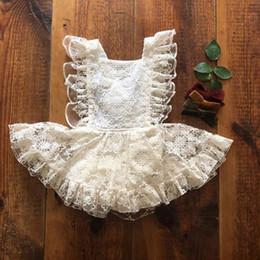 d5f01f7be362c 2019 blouson tutu blanc New Cute Robes Nouveau-Né Infantile Bébé Filles  Combinaison Combinaison Tutu
