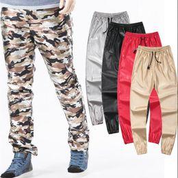 9e44f26727290 Wholesale-hip hop men urban clothing kanye west swag dance pants boys  joggers black fashion mens plus size clothing boys leather pants