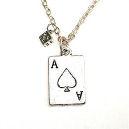 Casinos de poker on-line-12 pçs / lote Pôquer colar Charme pingente de Poker Jóias Casino Las Vegas colar