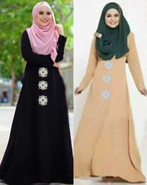 Billig plus größe abayas online-Günstige Großhandel plus Größe neue arabische Druck lose muslimische Abaya Maxi Kleid Kaftan Mode islamische Kleidung Dubai heißer Verkauf muslim Abaya 72 #