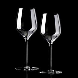 2019 pin ahuecamiento Cristal de copa de vino rojo al por mayor cristal de pin alto sin plomo Copa de cóctel de champán, taza de alcohol Conjunto de barra de suministros de boda pin ahuecamiento baratos