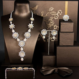 африканские свадебные наборы dubai Скидка African 4pcs Bridal Zirconia Jewelry Sets For Women Party,  Dubai Nigeria Crystal Wedding Jewelry Sets