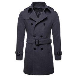 2019 peacoat coats Wollmantel Männer lange warme Wollmäntel Herren Freizeitjacke Casaco Masculino Palto Peacoat Mantel Daunenkragen Lange Wolljacke