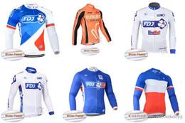 ciclismo de invierno fdj Rebajas FDJ EUSKALTEL equipo ciclismo invierno polar térmica Jersey nuevo poliéster transpirable Mountain Bike sportwear al por mayor C2929