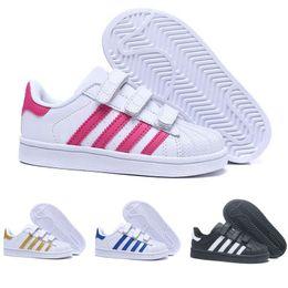 pretty nice 40c32 42fd3 Adidas Superstar dorp shipping 18 colores super star Moda Hombre Mujer Big  Kids shoes Zapatillas Casual Sport Zapato de cuero