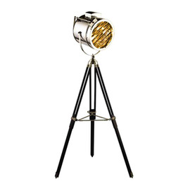 Wholesale Modern Lamp Posts - Post Modern searchlight Floor Light tripod base gold chrome lampshade metal Creative Nightstand lamp E27 led bulb free shipping