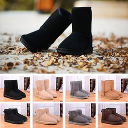 Wholesale Eiderdown Fur - 2018 High Quality WGG Women's Classic tall Boots Womens boots Boot Snow Winter women boots leather boot US SIZE 5-10