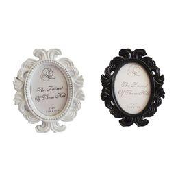Wholesale Framed Floral Pictures - Floral Photo Frame Round Frame Picture Holder Wedding Home Decor