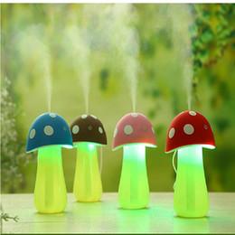 Mini Mushroom light Umidificatore Aromaterapia LED USB Purificatore d'aria Atomizzatore Diffusore Diffusore di Aroma Olio Essenziale per Interni Casa cheap atomizers for essential oils da atomizzatori per oli essenziali fornitori