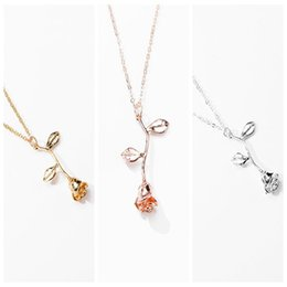 dab0cf9e9236a Pink Gold Rose Flower Statement Necklace Women girls kids Charm Maxi Choker  Boho Jewelry valentines day gifts for girls
