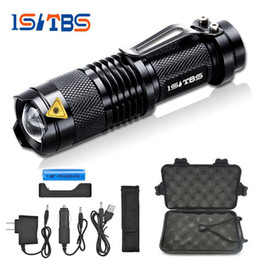Wholesale L2 Flashlight - Mini Zoom cree XML L2 T6 Flashlight Led Torch 5 mode 3800 Lumens waterproof 18650 Rechargeable battery