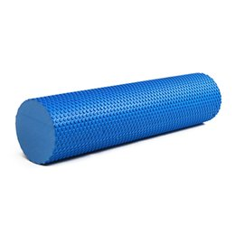 Wholesale pink yoga block - 60cm Massage Roller High Density Gym Exercise Fitness Floating Point Foam Roller Physio Trigger