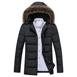 2017 Winter New Casual Pelzkragen Mit Kapuze Mann Jacke Winter Warm Lange  Schlank Schwarz Blau Farben Mens Parka Jacke rabatt langer winterpark für  männer 4b3c67a42e