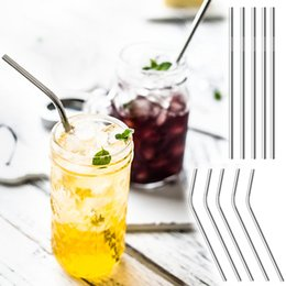 Wholesale Metal Drink - 30oz 20oz Stainless Steel Straw Reusable Straws Straight Curved 304 Metal Straws Different Size Drinking Tool For Beer Fruit Juice Drink