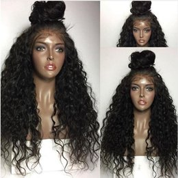 Wholesale Lace Wigs Curly - MHAZEL heat resistan fiber baby hair kinky curly real hair heat resistant fiber synthetic glueless front lace wig