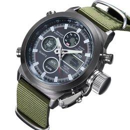 Relogios táticos on-line-Multi funcional relógios de montanhismo esportes dominador à prova d 'água masculino formulário de quartzo relógio militar de nylon Tactical LED relógio de pulso