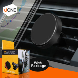 Wholesale air packaging - Universal Mini Magnetic Air Vent Car Phone Holder Mount For iphone X 8 7 Plus Samsung S9 S8 Plus Cell Phone Safer Drive With Retail Package
