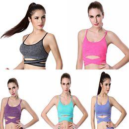 73cda902c9 Bandage Sports Bra Women Closure Push Up Shakeproof Sling Gym Clothing  Breathable Elastic Soft Bras Mujer Fitness Jogging Suits